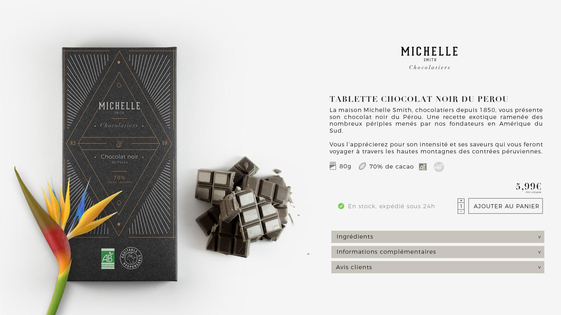 Fiche produit chocolat Afineo PIM Pâques