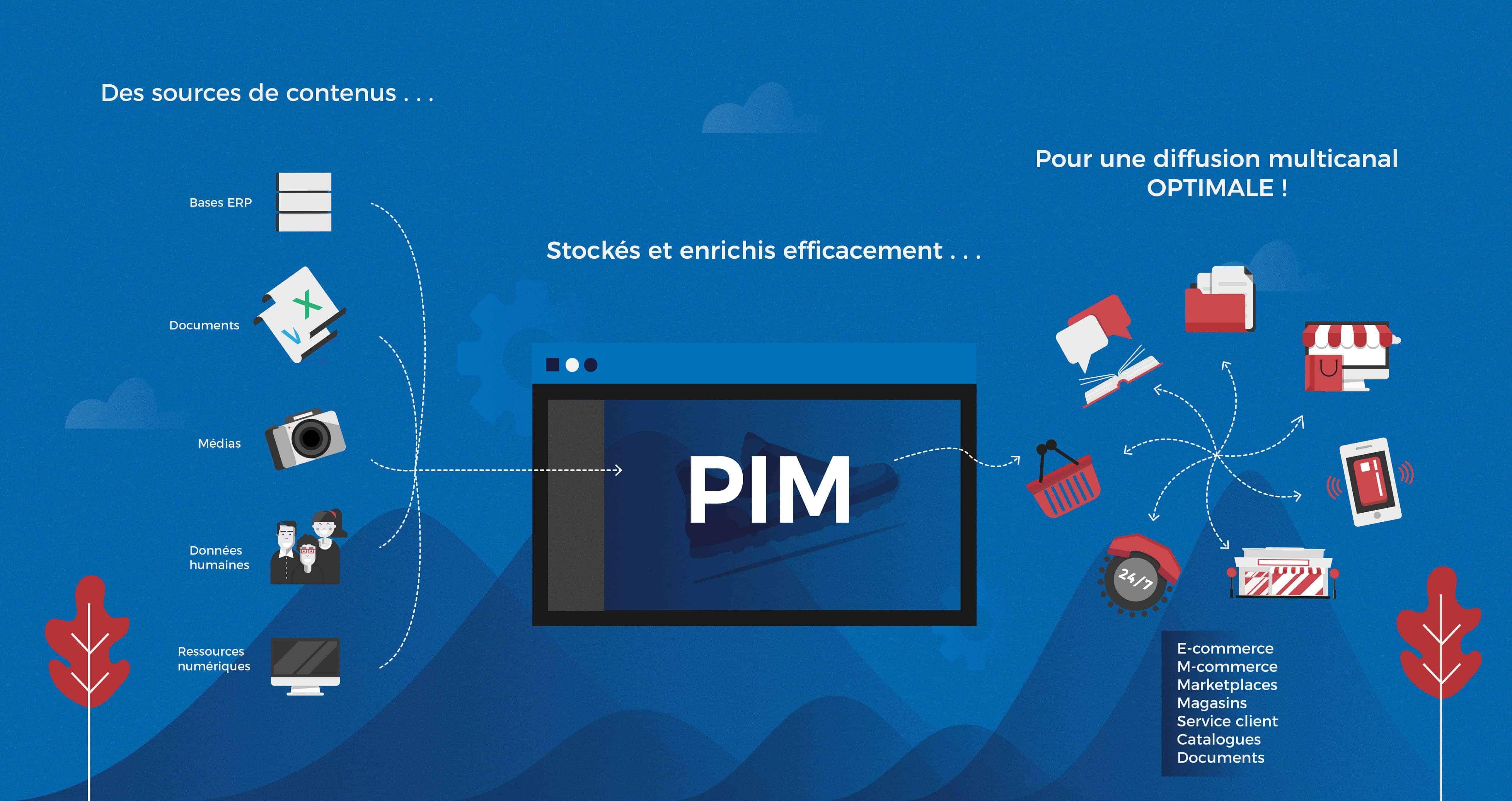 Schéma générique d'une solution PIM