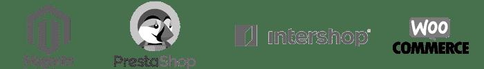 Logos de plateformes e-commerce