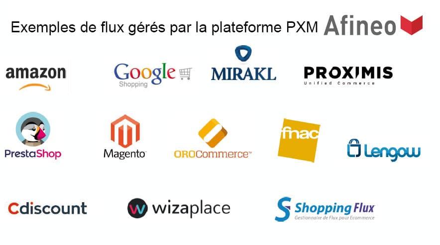 Plateforme PXM pour gérer les canaux marketplace et les flux de données Amazon, Google Shopping et Prestashop