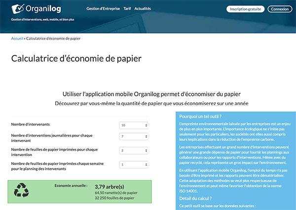 Une démarche éco-responsable : l'économie de papier
